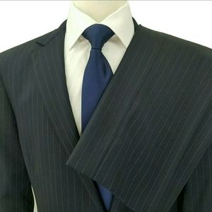 Brooks Brothers Fitzgerald Navy Striped Suit